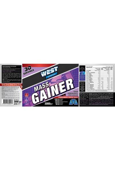 West Nutrition Mass Gainer Karbonhidrat Tozu 3000 gr Çilek