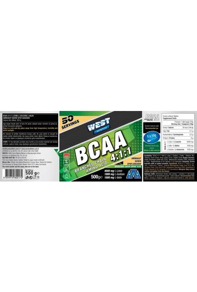 West Nutrition BCAA 4:1:1 500 gr - 50 Servis - Karpuz Aromalı