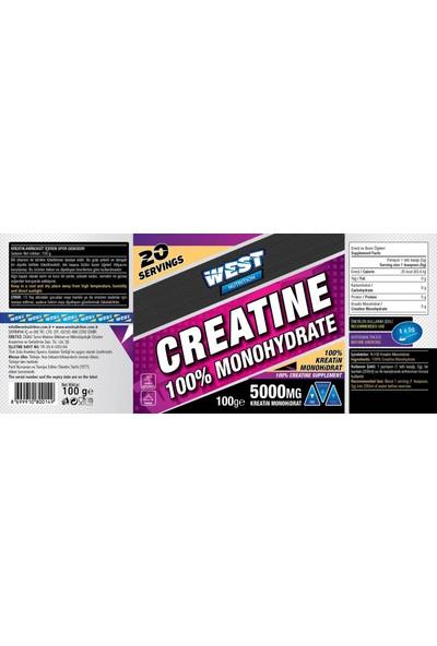 West Nutrition Kreatin Monohidrat 100 gr - 20 Servis