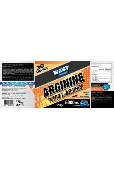 West Nutrition Arjinin Arginine 150 gr