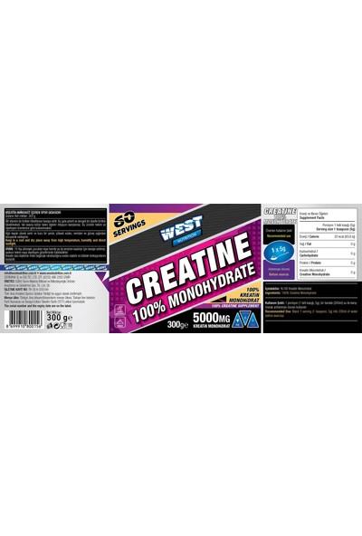West Nutrition Creatine Monohidrat 300 gr + Karnitin Shot