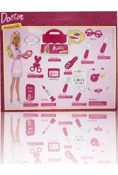 Toys e Toys Işıklı ve Sesli Çantalı 12 Parça Doktor Seti