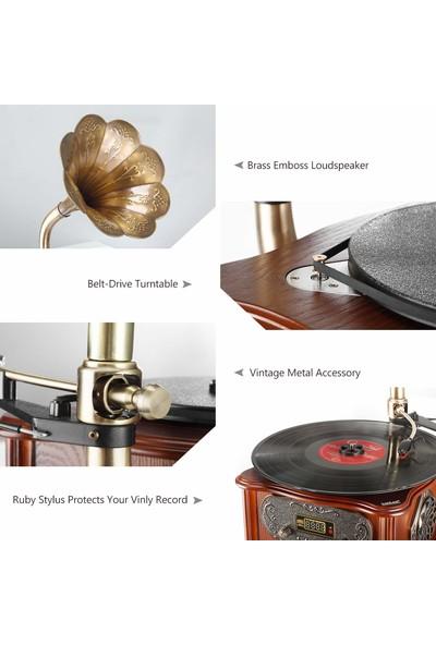 Record Master RMJ-209C Gramofon Pikap - Kahverengi