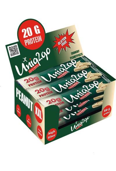 UNIQ2GO Xxl Protein Bar 67 gr Yer Fıstığı Ezmesi 12 Adet