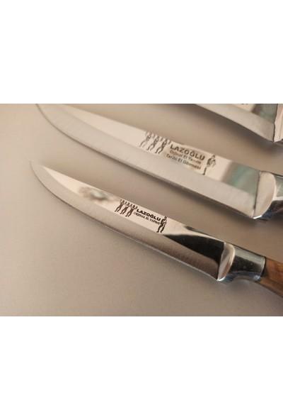 Lazoğlu Sürmene 5'li El Yapımı Profosyonel Kurban Kasap Mutfak Bıçak Seti