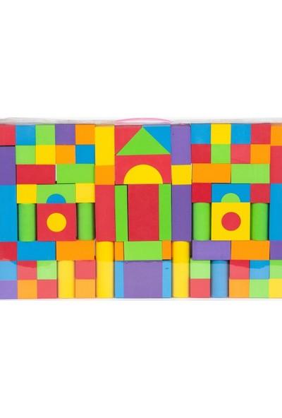 Engin Oyuncak Eğitici Eva Blok Seti 90 Parça Çantalı Puzzle Yapboz
