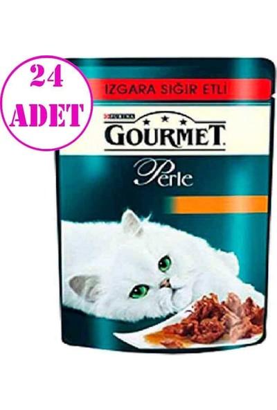 Purina Gourmet Perle Izgara Sığır Etli Yaş Kedi Maması 85 gr 24 Ad