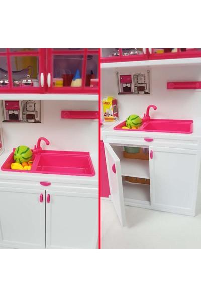 Binbirreyon Oyuncak Mutfak Seti 45 Parça - Detaylı Kapaklı Sesli Işıklı PC142