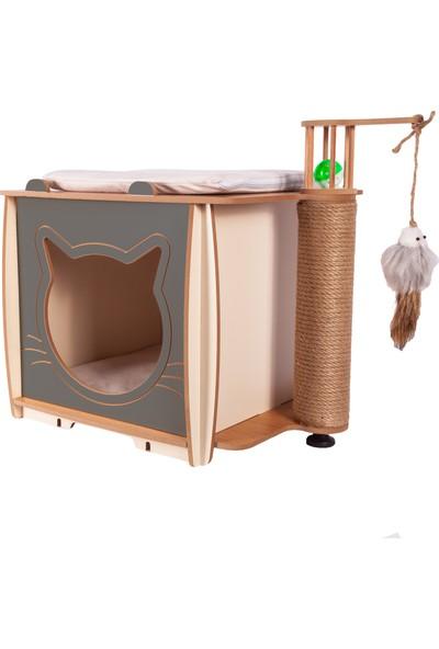 Pati Homes XL Lal Kedi Evi - Kedi Tırmalaması