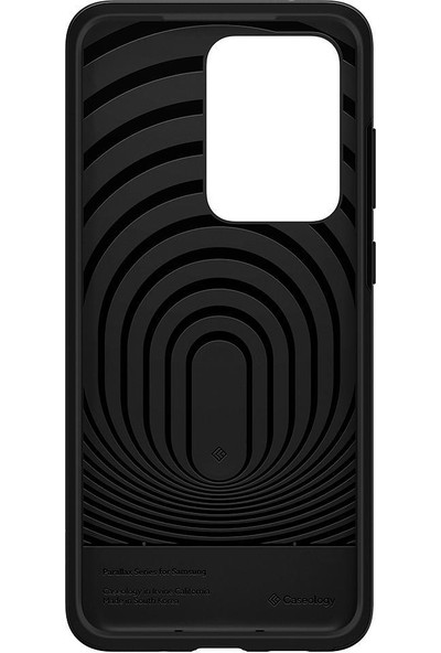 Caseology Samsung Galaxy S20 Ultra Kılıf Parallax Matte Black - ACS00739