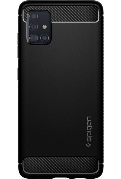 Spigen Samsung Galaxy A51 Kılıf Rugged Armor Matte Black - ACS00563