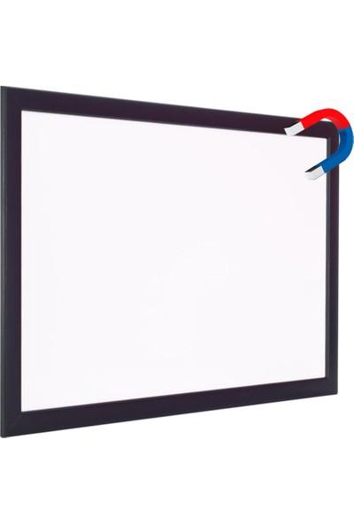 Chalky 65x100 cm Manyetik Beyaz Yazı Tahtası Siyah Çerçeveli