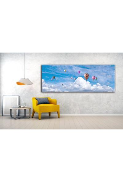 Dekoyes Gökyüzünde Balonlar Kanvas Tablo 30 x 90 cm