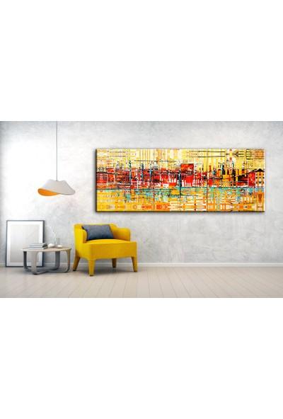 Dekoyes Soyut Kanvas Tablo 120 x 40 cm