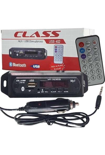 Class Oto Teyp Dönüştürücü AUX/USB/BT Mikrofon USB402