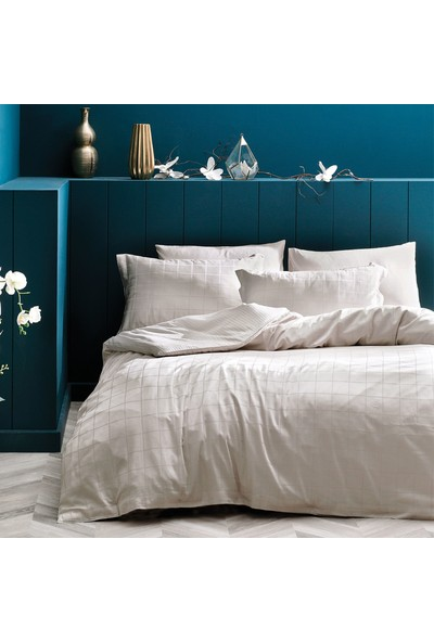 Yataş Bedding Destra Saten Nevresim Takımı (Çift Kişilik) - Koyu Mavi