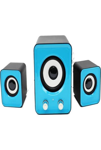 Havana FT-202 2.1 Hoparlör Ac 220V Speaker 2+1