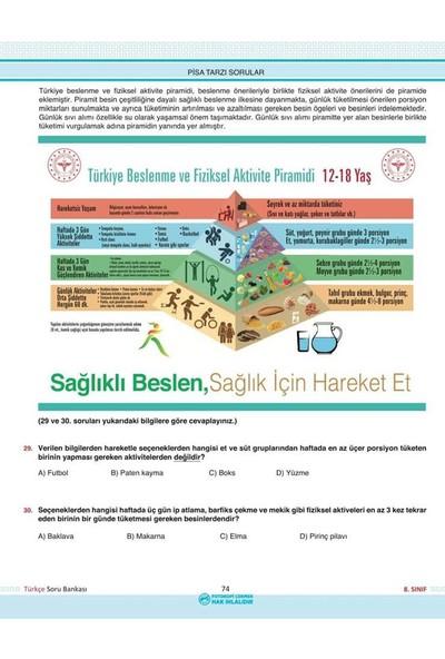 Analiz Yayınları 8.sınıf Türkçe Aort Yeni Nesil Soru Bankası