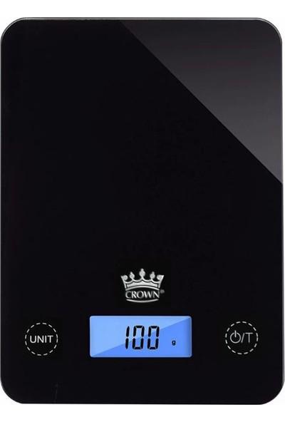 Crown Dijital Siyah Cam Mutfak Terazisi 5 kg