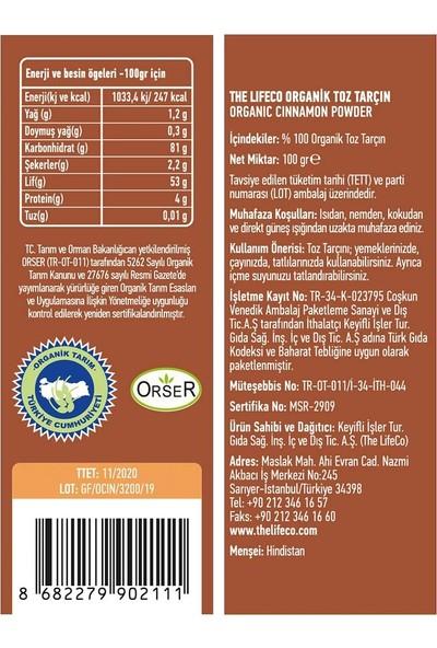 The LifeCo Organik Toz Tarçın 100 gr