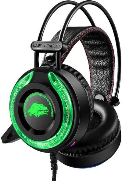 Megix A5 Kablolu Mikrofonlu Işıklı Oyuncu Kulaklığı