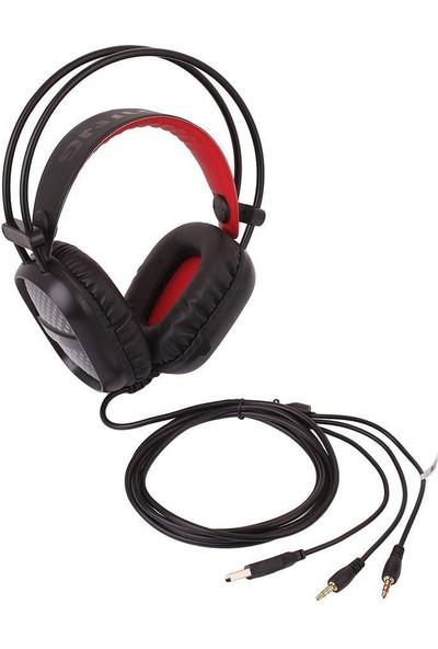 Megix A2 Kablolu Mikrofonlu Işıklı Oyuncu Kulaklığı