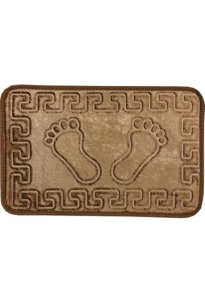 Veldana Kaydırmazlı Ayak Izi Desenli Banyo Paspası