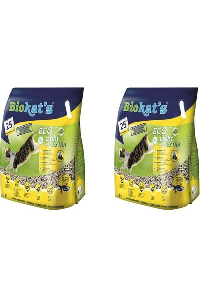 Bio Cat's Pelet Kedi Kumu Eco Light Extra 5 lt - 2'li