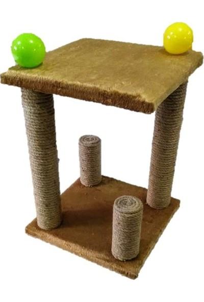 Mila Dekoratif 4'lü Tırmalamalı Kedi Oyun Alanı Taba/Tarçın