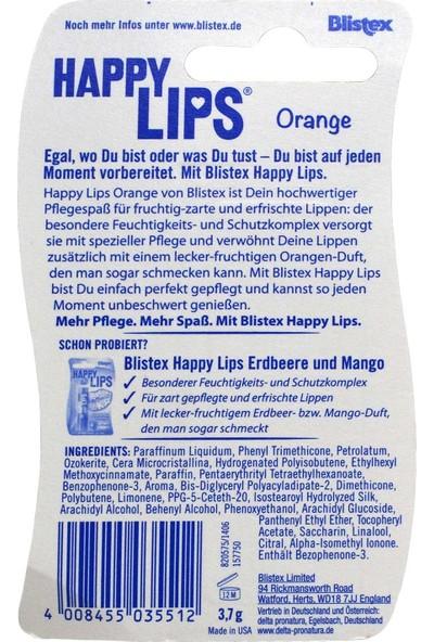 Blistex Happy Lips Portakal Aromalı Dudak Nemlendirici 3,7 gr