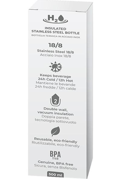 Puro H2O Paslanmaz Çelik Termos Beyaz 500 ml