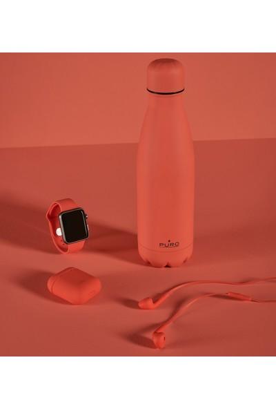 Puro Icon Soft Touch Paslanmaz Çelik Termos Canlı Mercan 500 ml