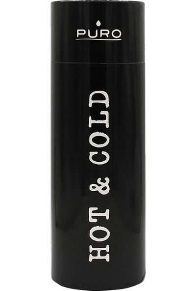 Puro Hot&Cold Paslanmaz Çelik Termos Parlak Siyah 500 ml
