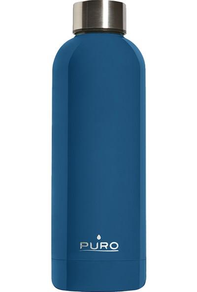 Puro Hot&Cold Paslanmaz Çelik Termos Parlak Koyu Mavi 500 ml