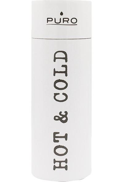 Puro Hot&Cold Paslanmaz Çelik Termos Parlak Beyaz 500 ml