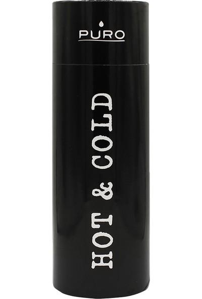 Puro Hot&Cold Paslanmaz Çelik Termos Mat Metalik Siyah 500 ml