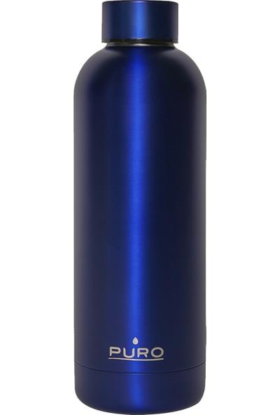 Puro Hot&Cold Paslanmaz Çelik Termos Mat Metalik Mavi 500 ml