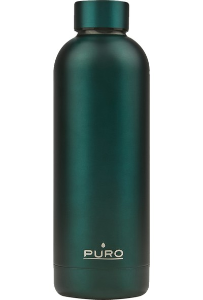 Puro Hot&Cold Paslanmaz Çelik Termos Mat Metalik Yeşil 500 ml