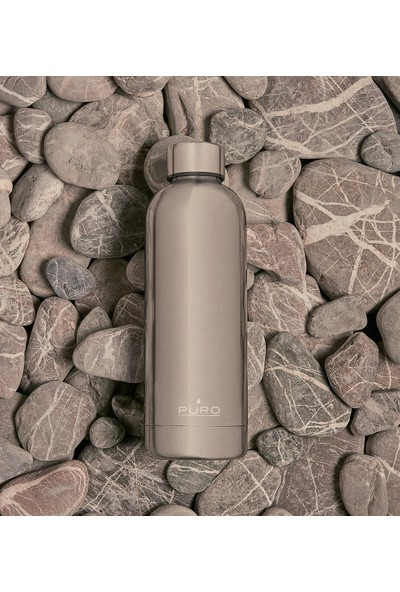 Puro Hot&Cold Paslanmaz Çelik Termos Mat Metalik Gümüş 500 ml
