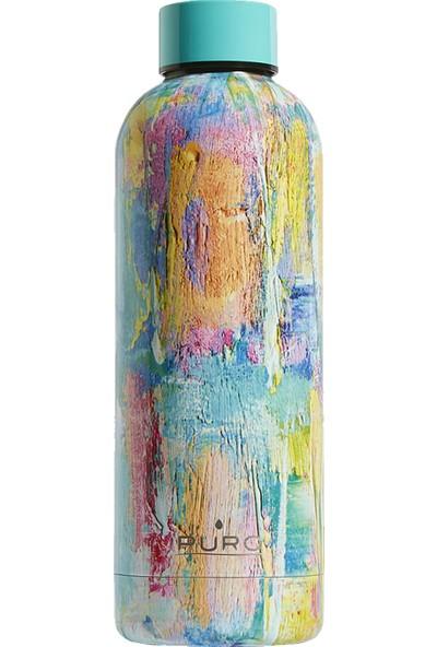 Puro Hot&Cold Paslanmaz Çelik Termos Parlak Street Paint Desenli 500 ml