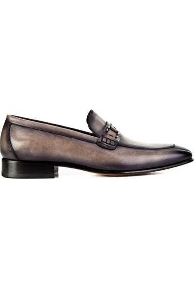 Cabani Ayakkabı Gri Hakiki Deri7Yea01Ay050W64