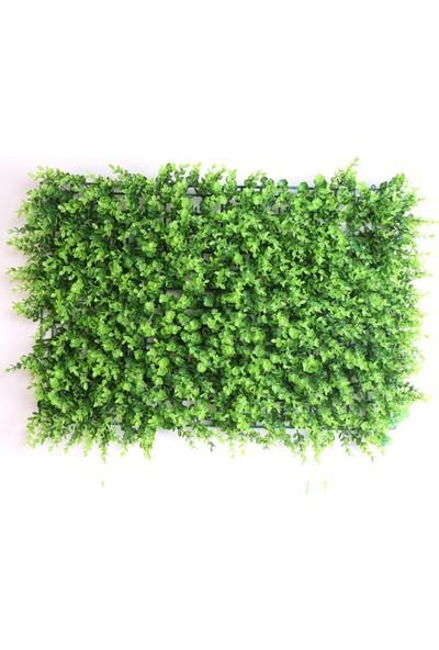 Binbirreyon Yapay Bitki Yaprak Çit 60 cm x 40 cm Yeşil