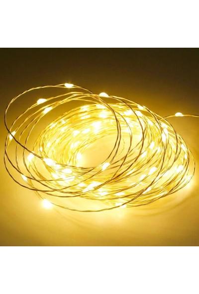 Onetick Peri LED Pilli 50 LED Süs Sarı Işık 5 m