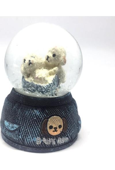Jetfast 6.5 cm Mini Boy Işıklı Kar Küresi (Köpekler)