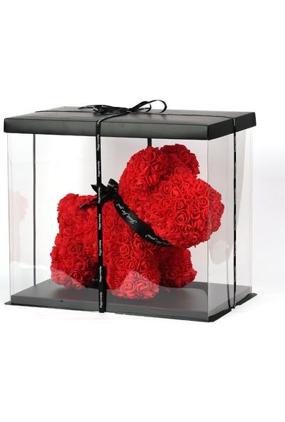 Solenzara Flowers Teddy Rose Dog Kırmızı Solmayan Gül 40 cm Köpek