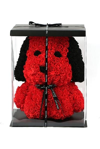 Solenzara Flowers Teddy Rose Snoopy Kırmızı Solmayan Gül 40 cm Köpek