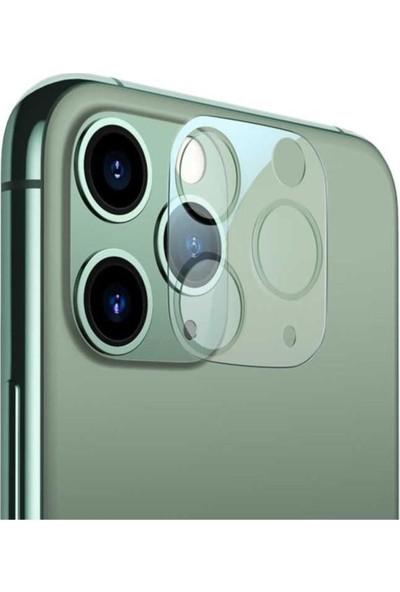 Maxcom Apple iPhone 11 Pro Max 9h Full Kamera Lens Koruyucu Şeffaf