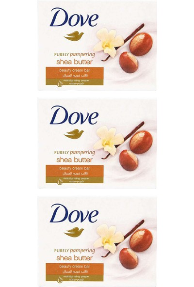 Dove Cream Bar Shea Butter 100 gr 3lü Paket