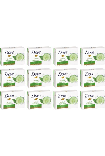 Dove Cream Bar Salatalık ve Yeşil Çay Ferahlığı Katı Sabun 100 gr 12 Paket