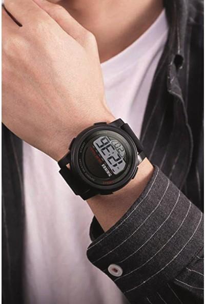 SKMEI 1549 Siyah Güneş Enerjili Alarmlı Dijital Erkek Kol Saati